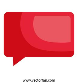 red speech bubble message illustration