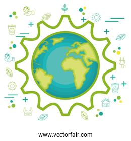 environmental and ecology set icons