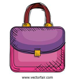 elegant handbag female icon