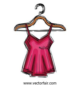 sensual blouse for woman hanging in hook