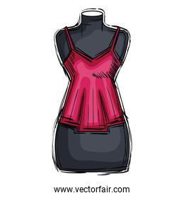 mannequin with sensual blouse for woman