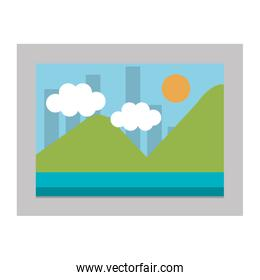 picture landscape isolated icon