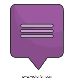 illustration of text bubble vector