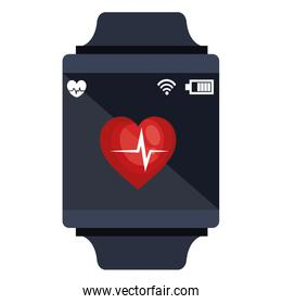 smartwatch with cardiology app