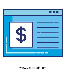 template webpage with money symbol