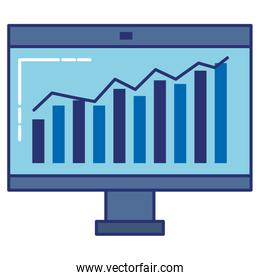 monitor computer with statistics