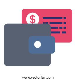 wallet money with credit card