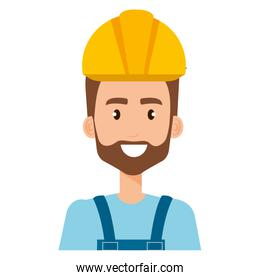 builder constructor with overall avatar character