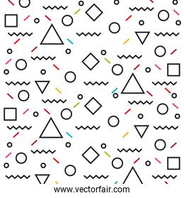 geometric figures art work background