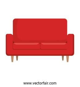 comfortable sofa isolated icon