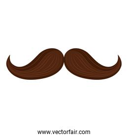 mustache hipster style isolated icon