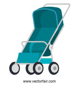 cart baby isolated icon
