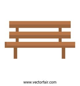 park chair wooden icon