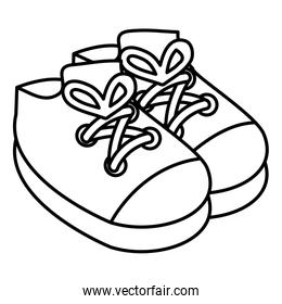 baby shoes isolated icon