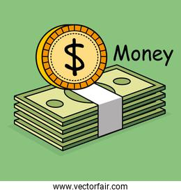 save money coins and bills