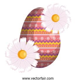 egg paint with flowers easter decoration