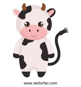 cute and little cow character