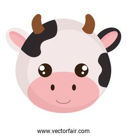 cute and little cow head character