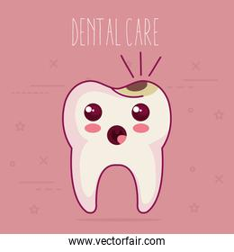 dental care kawaii characters