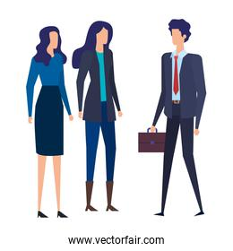 elegant business people workers avatars characters