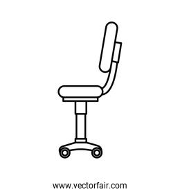 office chair equipment isolated icon