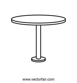 circular table wooden forniture isolated icon