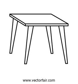 table wooden forniture isolated icon