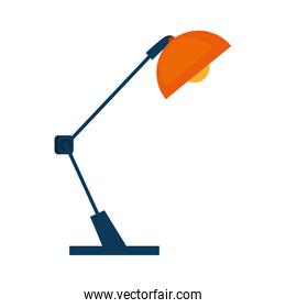 desk lamp equipment isolated icon