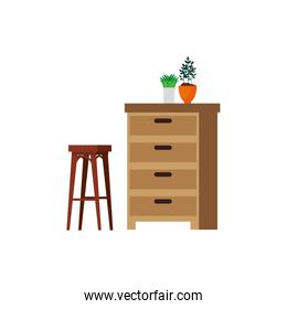 house place with drawer scene
