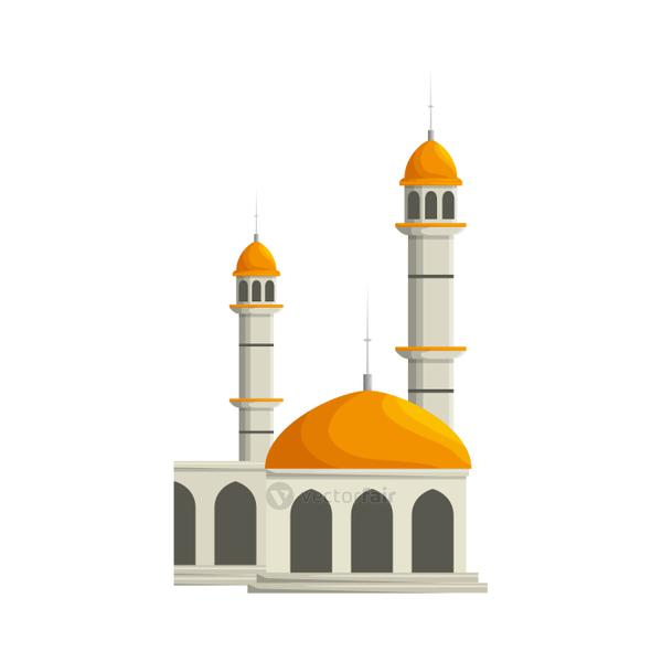 mosque building palace isolated icon