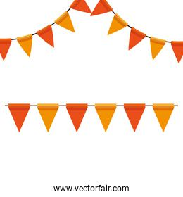 party garlands decoration hanging icon