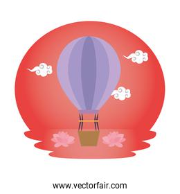 balloon air hot flying icon