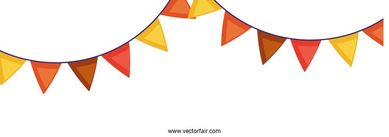 garlands hanging party decoration icon