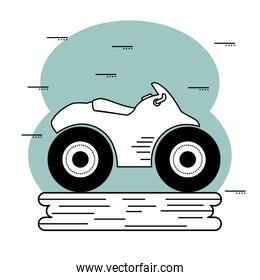 Hand-drawn motorcycle icon