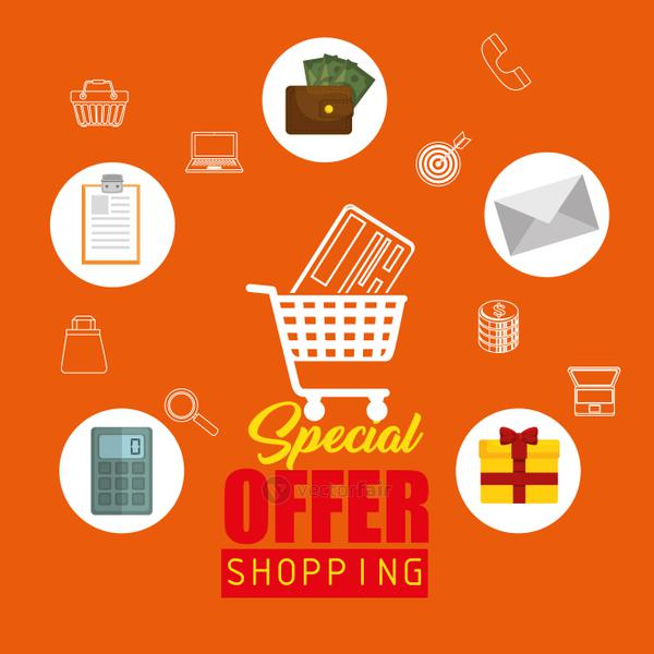 Colorful shopping design