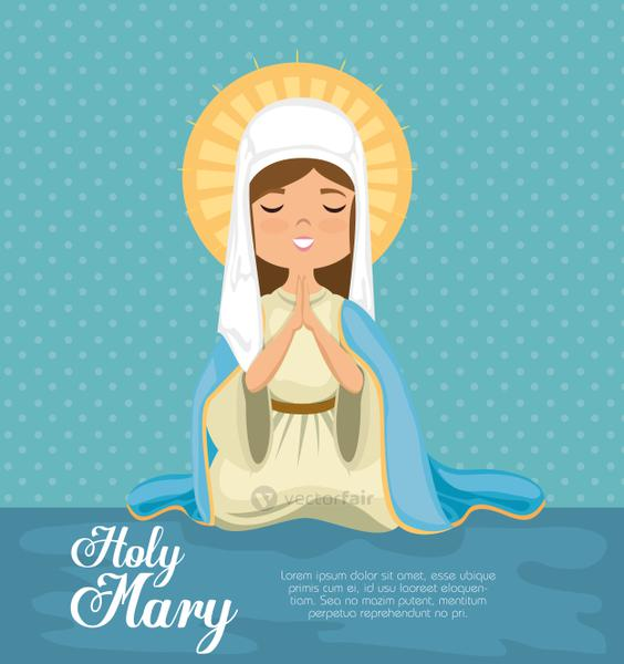 holy Miracle virgin religious card