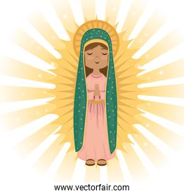 holy virgin of guadalupe religious card