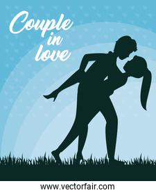Leaning over couple design