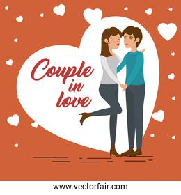Couple in love design