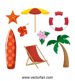 beach related objects design