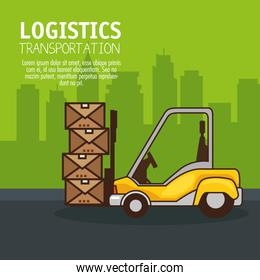 freight transportation and delivery logistic