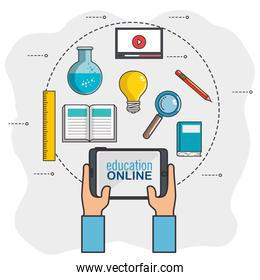 online education and learning web set