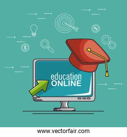 online education and e-learning concept