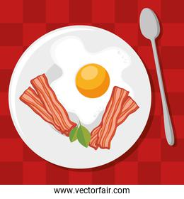 breakfast concept with fesh food
