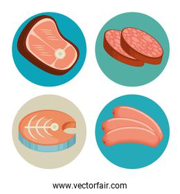 meat and fish set