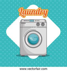 laundry room with washing machine and clothes