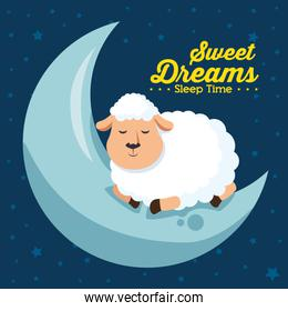 sweet dreams sleeping time icon