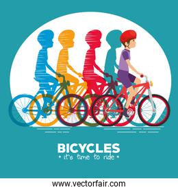 cycling infographic design