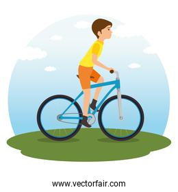 people riding bycicle