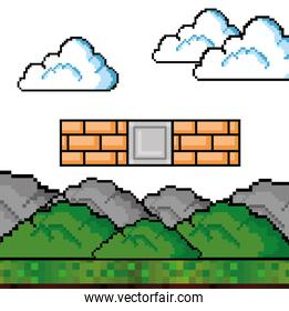 Video game wall design